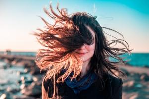 windy portrait